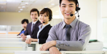 Call centre agents in the Philippines
